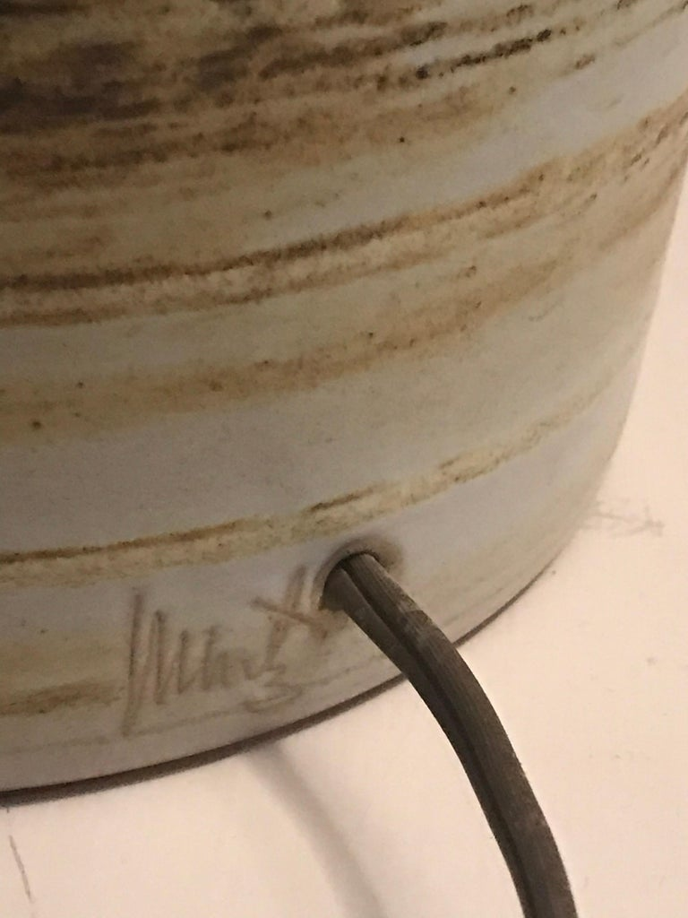 Jane and Gordon Martz Ceramic Lamp for Marshall Studios In Good Condition For Sale In St.Petersburg, FL