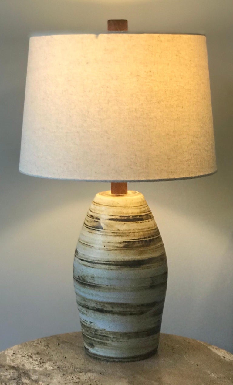 Mid-20th Century Jane and Gordon Martz Ceramic Lamp for Marshall Studios For Sale