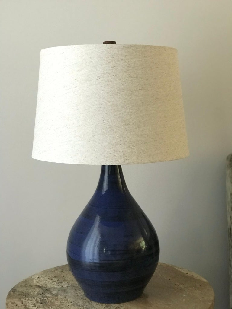 American Jane and Gordon Martz Ceramic Table Lamp For Sale