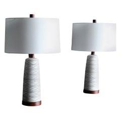 Jane and Gordon Martz Ceramic Table Lamps for Marshall Studios, circa 1965