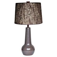 Jane and Gordon Martz Gloss Gray Glaze Ceramic Table Lamp
