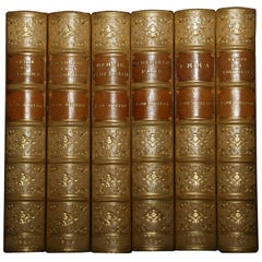Jane Austen 6-Volume Set of Classic Novels in Period Leather Bindings, 1886-1901