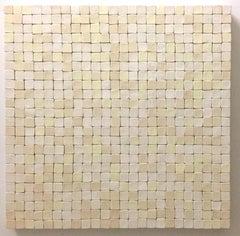 All That Jazz XVII / ceramic wall sculpture - cream, white, neutral