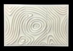 Ode X - minimal wall sculpture - ceramic