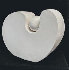 Rhapsody VII - ceramic free standing sculpture minimal serene