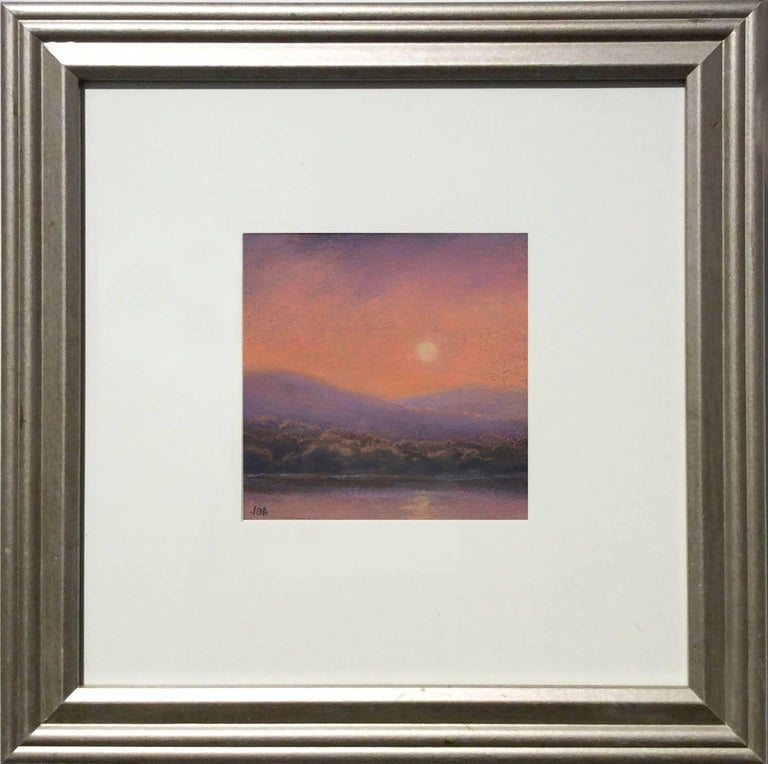 25 Series, No. 19: Landscape Drawing on Paper of a Hudson Valley Sunset - Art by Jane Bloodgood-Abrams