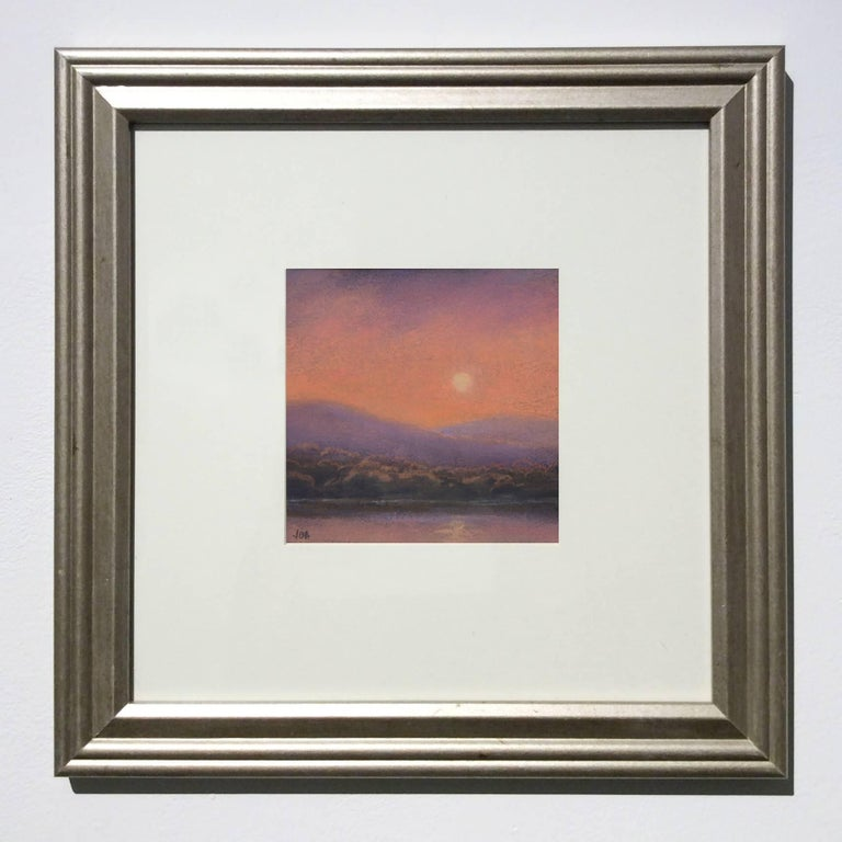 25 Series, No. 19: Landscape Drawing on Paper of a Hudson Valley Sunset - Hudson River School Art by Jane Bloodgood-Abrams