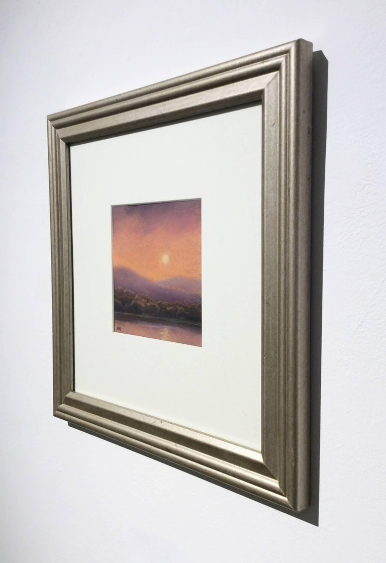 25 Series, No. 19: Landscape Drawing on Paper of a Hudson Valley Sunset - Brown Landscape Art by Jane Bloodgood-Abrams
