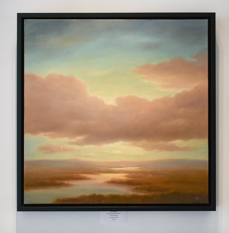 Above (Luminist Style Hudson River School Landscape Painting of Clouds & Sunset) For Sale 2