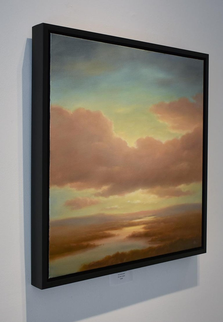 Above (Luminist Style Hudson River School Landscape Painting of Clouds & Sunset) For Sale 3