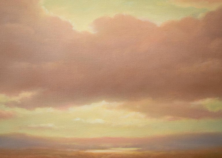 Above (Luminist Style Hudson River School Landscape Painting of Clouds & Sunset) For Sale 5