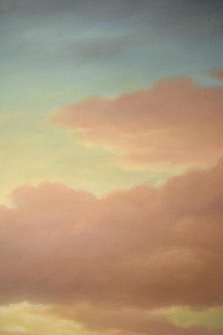 Above (Luminist Style Hudson River School Landscape Painting of Clouds & Sunset) For Sale 6