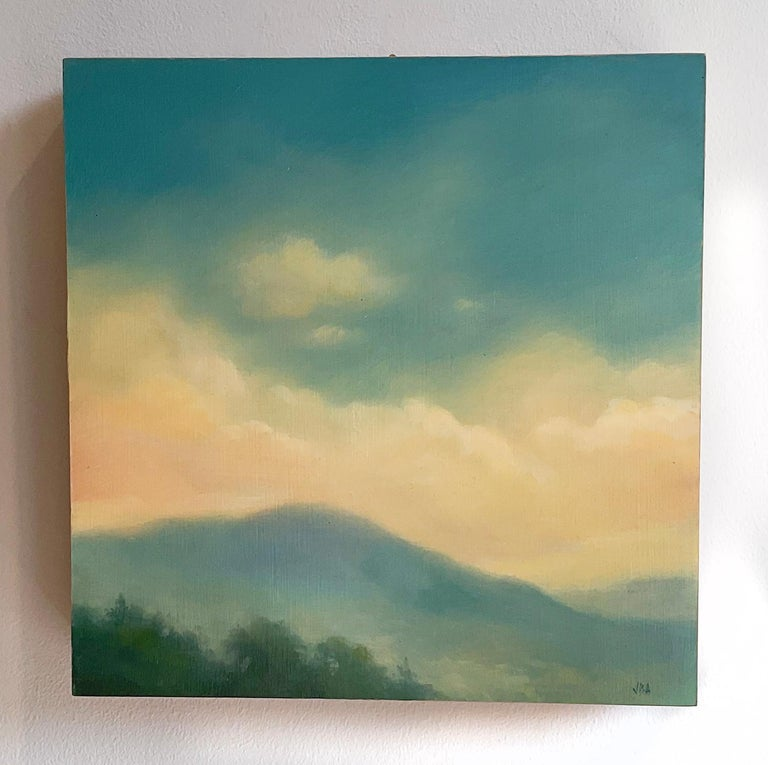 Catskills Spring No. 1 (Contemporary Hudson Valley Landscape Oil Painting) For Sale 1