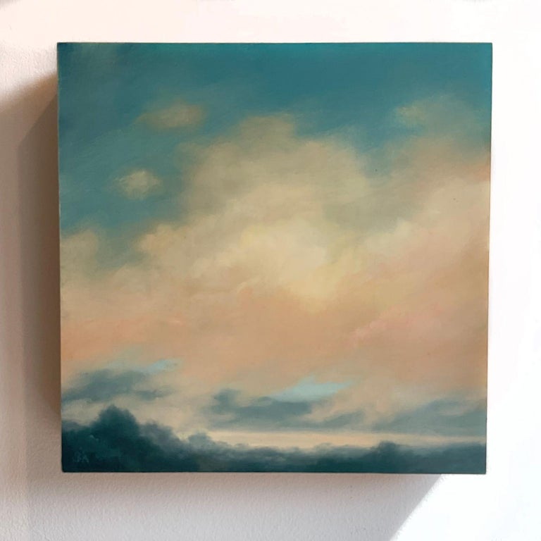 Catskills Spring No. 2 (Contemporary Hudson Valley Landscape Oil Painting) - Gray Landscape Painting by Jane Bloodgood-Abrams