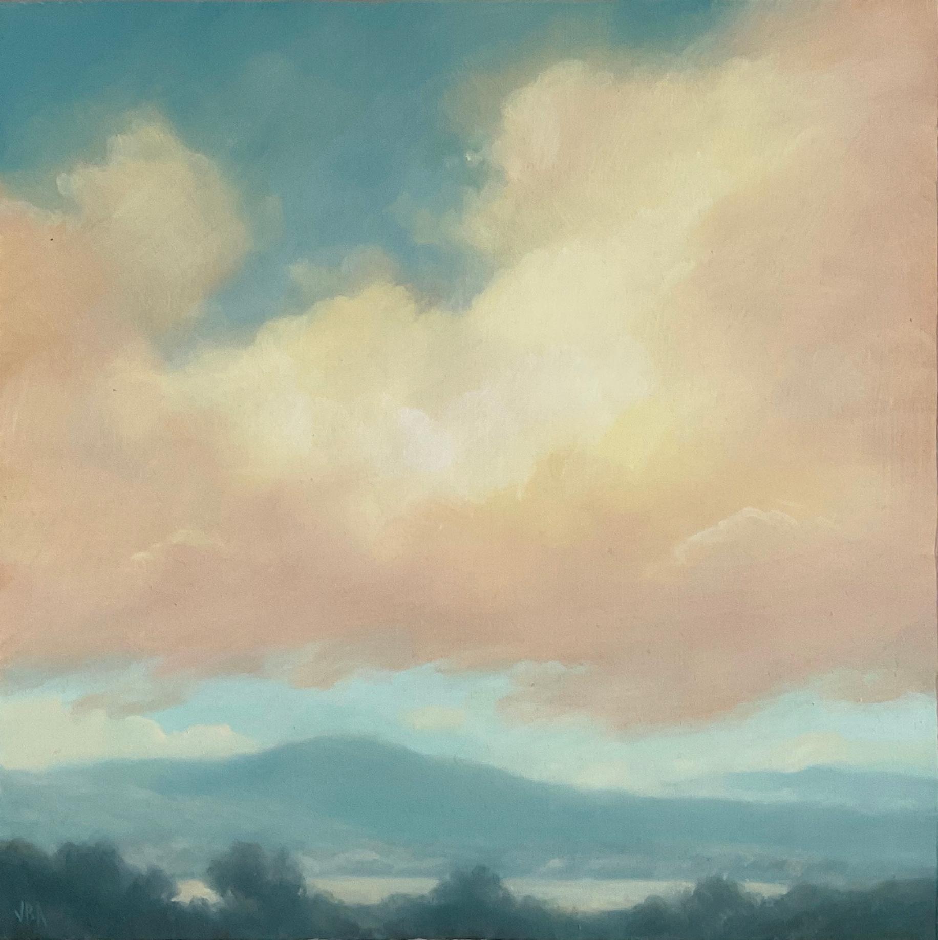 Catskills Spring No. 3 (Contemporary Hudson Valley Landscape Oil Painting)