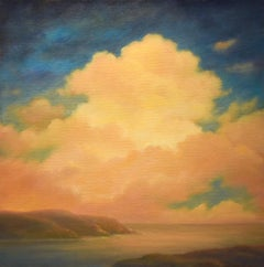 Clouds Rising: Contemporary Hudson River Landscape Painting of Clouds & River