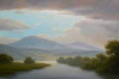 Light Over the Berkshires (Contemporary Hudson River School Oil Painting)