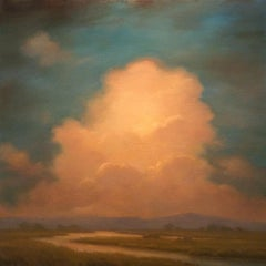 Oneness: Contemporary Hudson River Valley Landscape Painting of Luminous Clouds