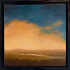Warm Light Over the Valley: Contemporary Hudson River Valley Landscape Painting