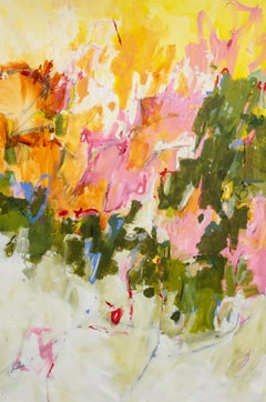 "Jane Burton. ""Breaking Through"" Oversize Abstract Original Vibrant Painting"