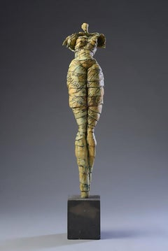 "Jane Burton. ""Summer in Santa Fe"" Contemporary Figurative Original Sculpture."