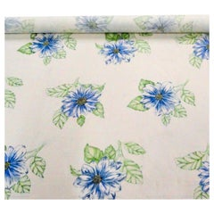 Jane Churchill Odette Periwinkle Floral Linen Print Multi-Purpose Textile