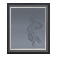 """""""Ghost Riders"""" Abstract Modern Grey Toned Intertwined Snail Screen Print Ed 9/15"""