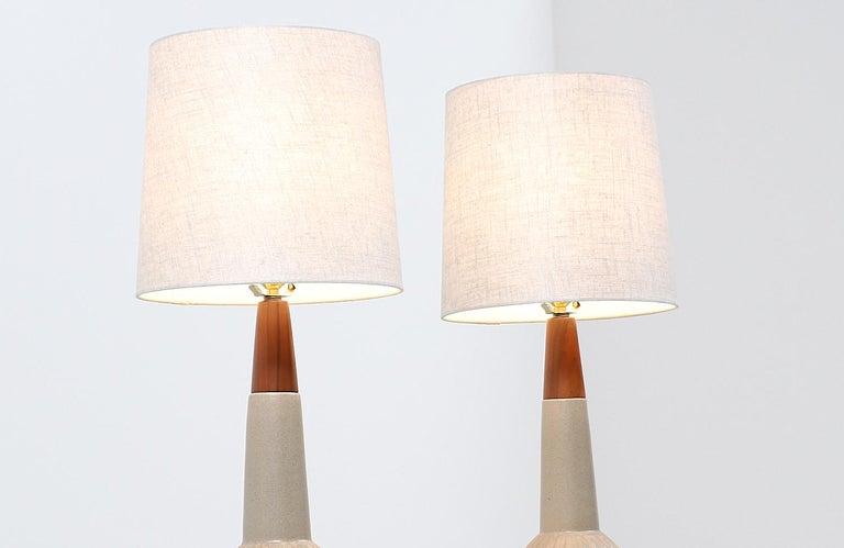 Mid-Century Modern Jane & Gordon Martz Ceramic Table Lamps for Marshall Studios For Sale