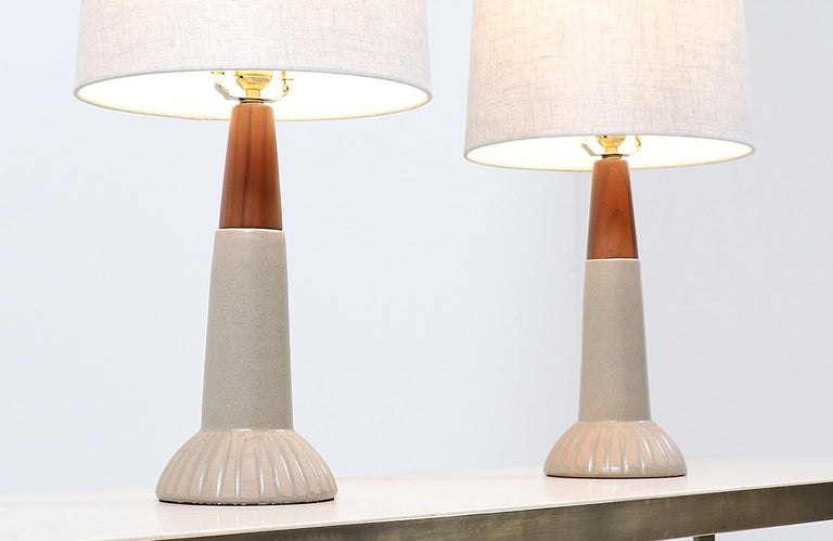 American Jane & Gordon Martz Ceramic Table Lamps for Marshall Studios For Sale