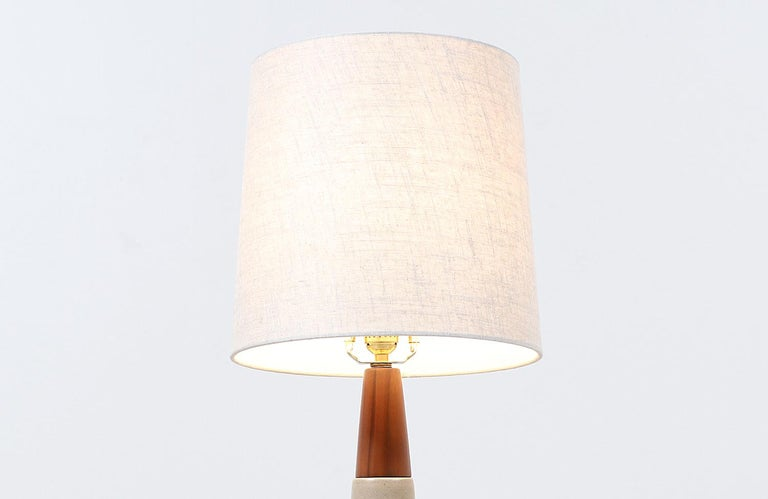 Jane & Gordon Martz Ceramic Table Lamps for Marshall Studios In Excellent Condition For Sale In Los Angeles, CA