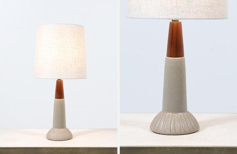 Brass Jane & Gordon Martz Ceramic Table Lamps for Marshall Studios For Sale