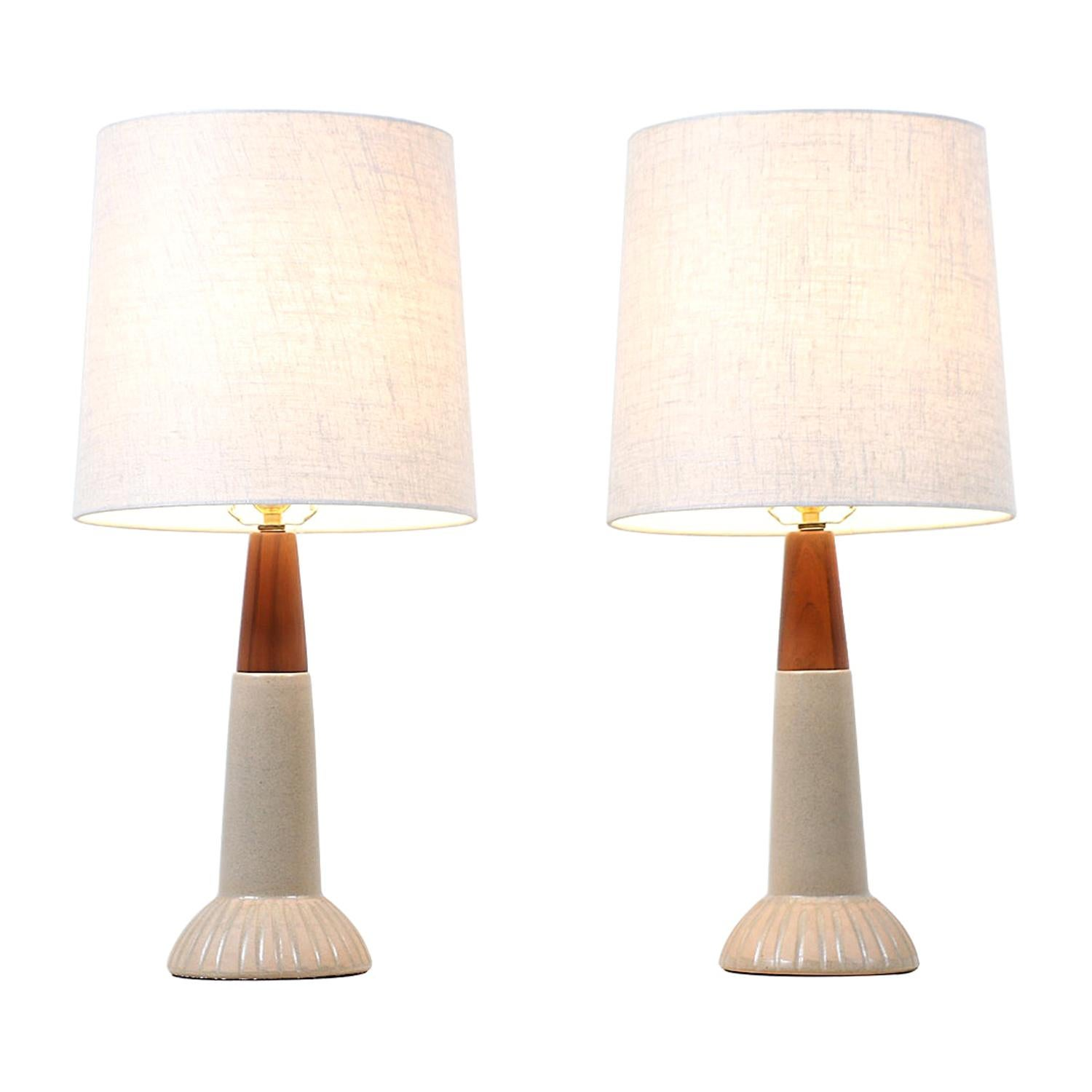 Jane & Gordon Martz Ceramic Table Lamps for Marshall Studios