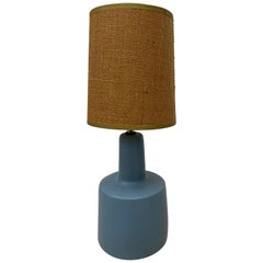 Jane & Gordon Martz Periwinkle Blue Table Lamp, circa 1960