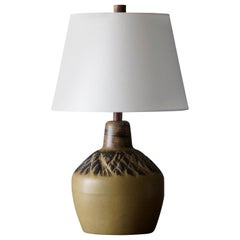 Jane & Gordon Martz, Table Lamp, Ceramic, Walnut, Linen Marshal Studios, 1950s