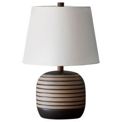 Jane & Gordon Martz, Table Lamp, Ceramic, Walnut, Linen Marshal Studios, 1950s