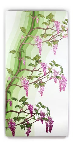 Currant Current / contemporary botanical painting California nature