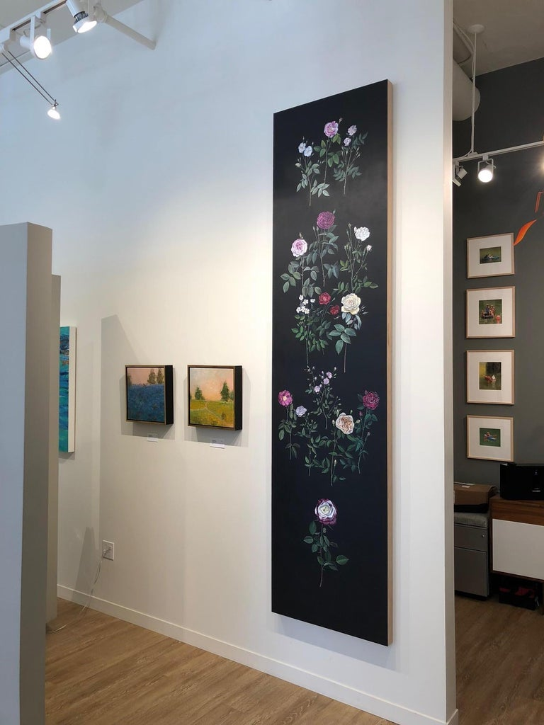 Man Made: Evolution of Roses - Contemporary Painting by Jane Kim