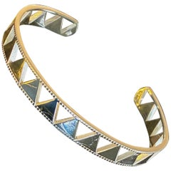Jane Magon Collections Arrowhead 14 Karat Gold Cuff Bracelet