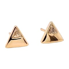Jane Magon Collections Dainty Arrow Diamond Stud Earrings in Gold
