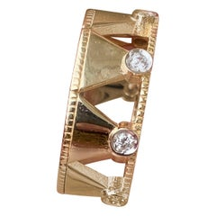 Jane Magon Collections Diamond Gold Ring in 14 Karat Gold