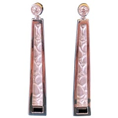 Diamond 0.30ctw Dangle Earrings in Sterling Silver with Rhodium Plating
