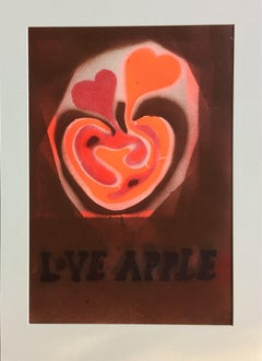 Love Apple (Brown background).
