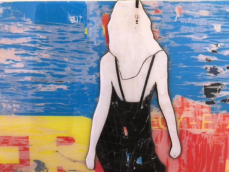 After, Jane Maxwell, Mixed Media Collage on Panel, Female Figurative, Portrait For Sale 1