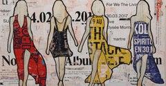 We the Living (Female Figurative Collage) Mixed Media Feminist Art