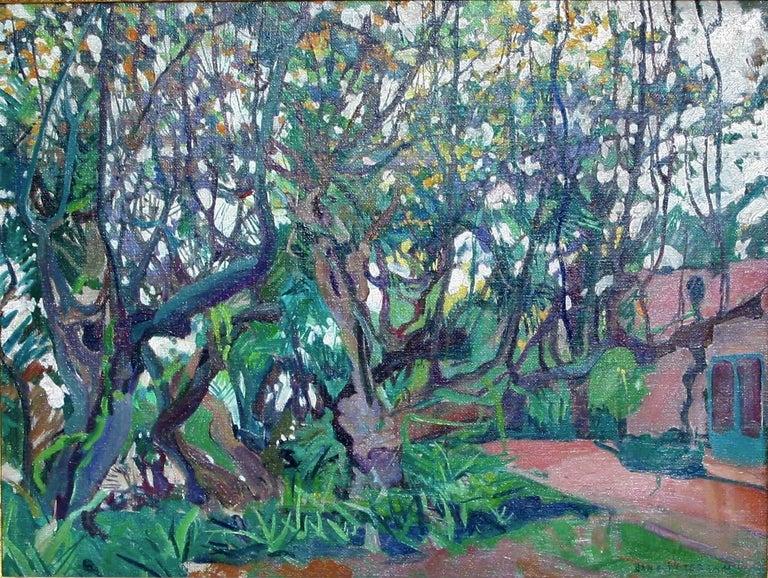 [Flowering Carob Tree, San Giorgio Maggiore Island, Venice]. - Painting by Jane Peterson