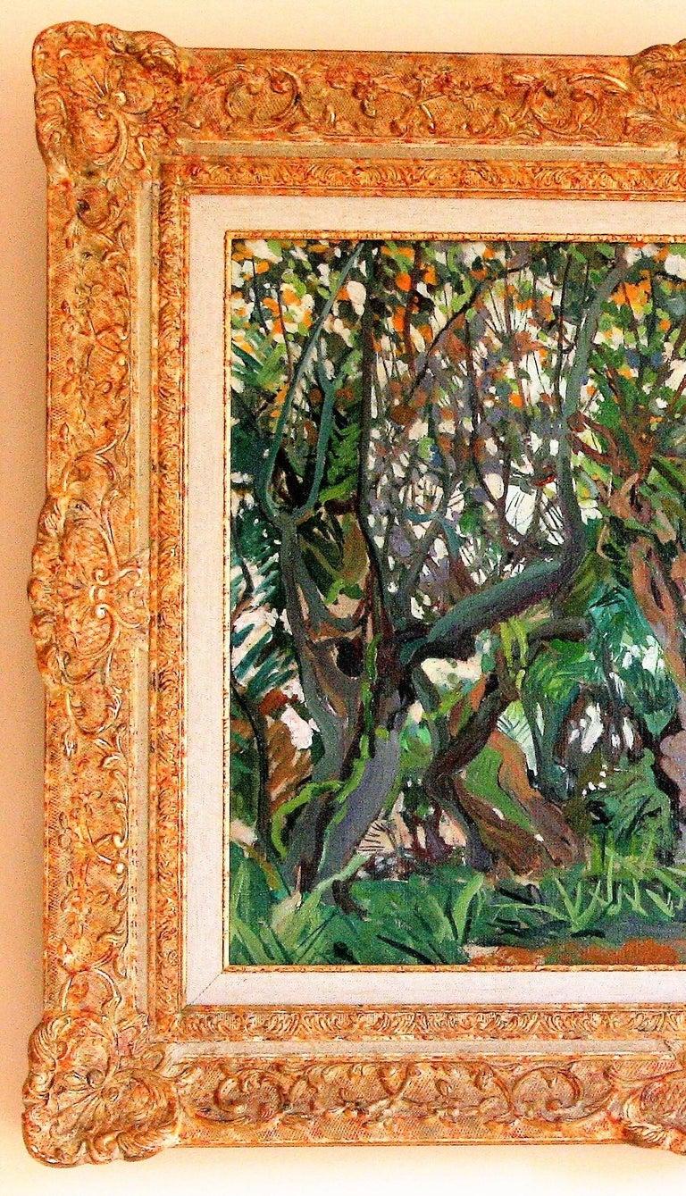 [Flowering Carob Tree, San Giorgio Maggiore Island, Venice]. - American Impressionist Painting by Jane Peterson