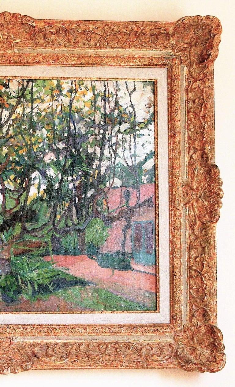 [Flowering Carob Tree, San Giorgio Maggiore Island, Venice]. - Beige Landscape Painting by Jane Peterson