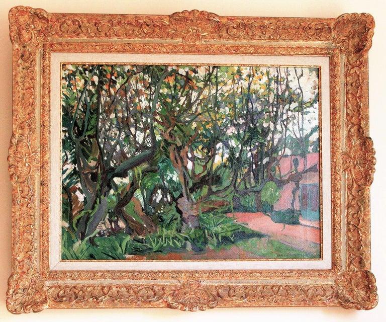 Jane Peterson Landscape Painting - [Flowering Carob Tree, San Giorgio Maggiore Island, Venice].