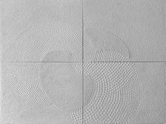 Four White, Polyptych Monochrome Painting