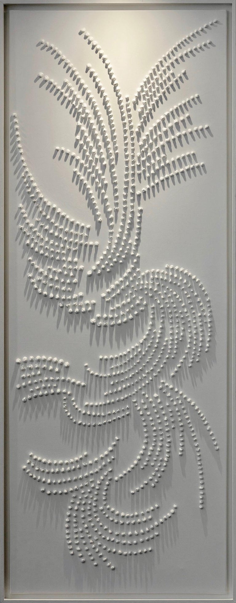 Jane Puylagarde Abstract Painting - Fragment of Life XIX, Contemporary Monochrome Painting